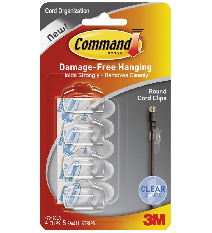 3M Command™ Clear Round Cord Clips 17017CLR-HK