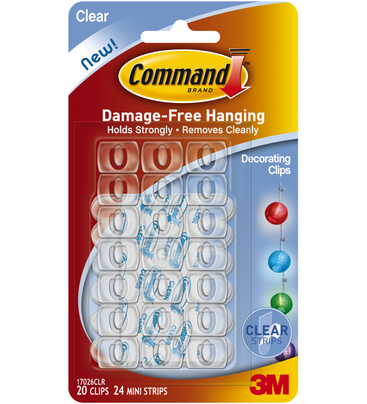 3M Command™ Clear Decorating Clips 17026HK