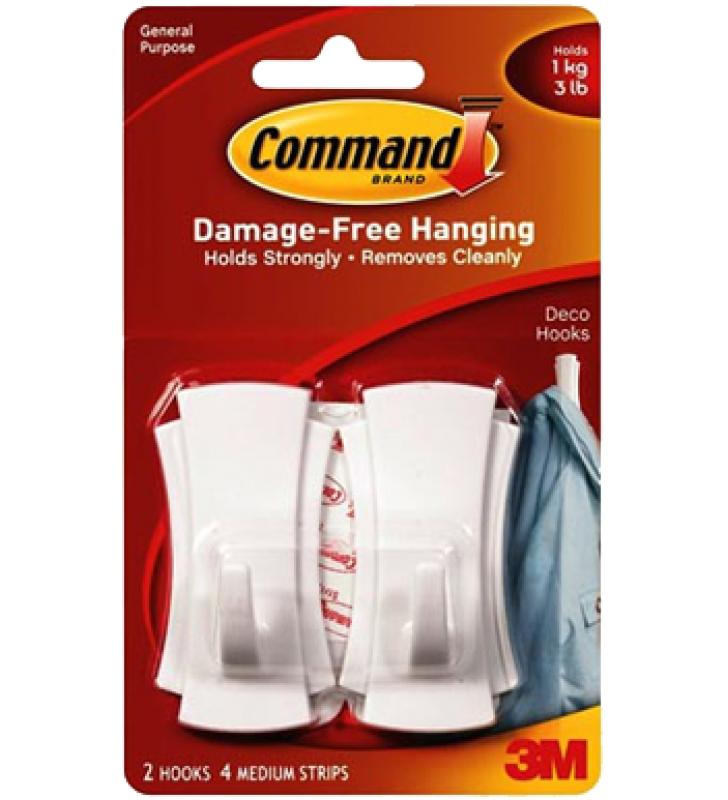3M Command™ Medium Deco Hooks 17080HK
