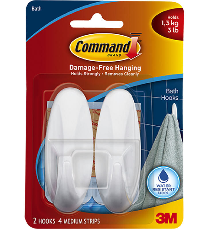 3M Command™ Bath Medium Designer Hook 17081B