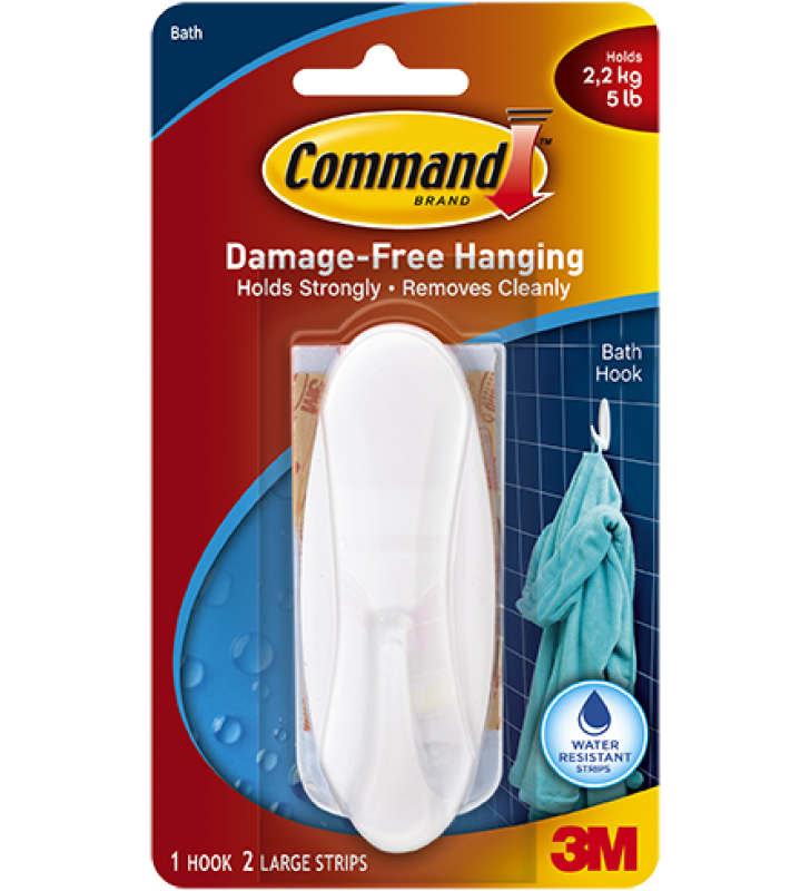 3M Command™ Bath Large Designer Hook 17083B