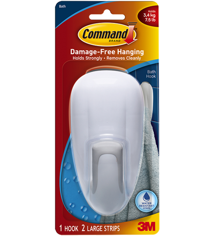 3M Command™ Bath Jumbo Hook 17600B