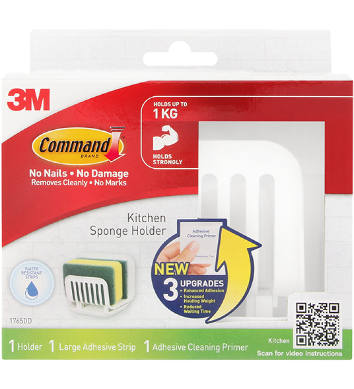 3M Command™ Kitchen Organization - Sponge Holder with Water Resistance Strips 17650D