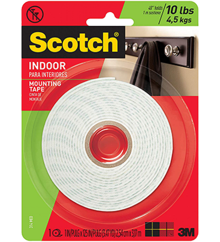 "3M Scotch® 314P Mounting Tape(1"" x 125"")"