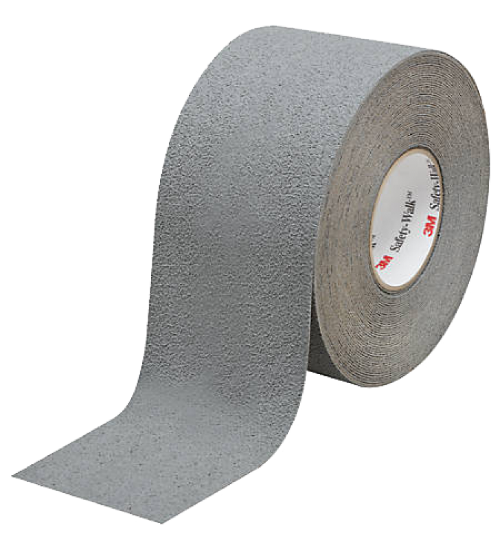 "3M™ Safety-Walk™ Slip-Resistant Medium Resilient Tapes and Treads 370 (Gray) 4"" x 60'"