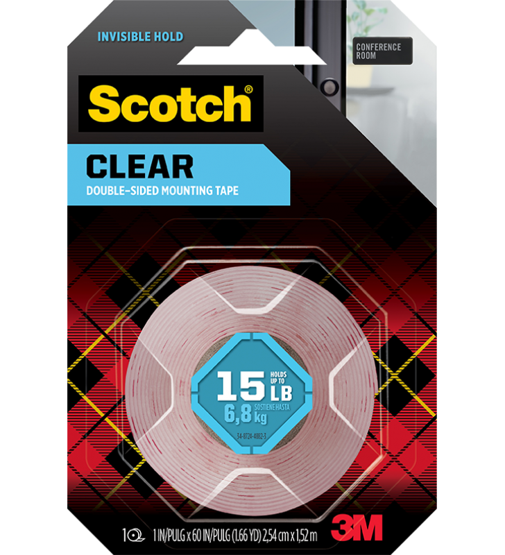 "3M Scotch® 410S Clear Mounting Tape(1"" x 60"")"
