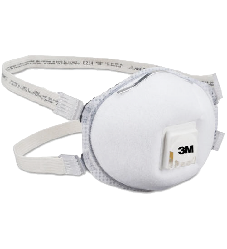 3M 8214 N95 Particulate Respirator with Faceseal and Nuisance Level Organic Vapor Relief  (10pcs/box)