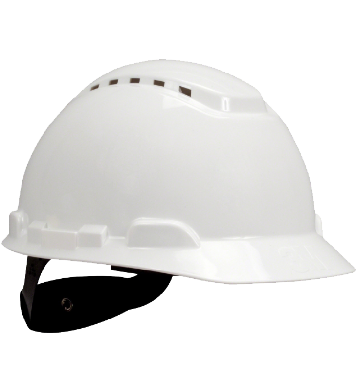 3M™ Hard Hat H-701V Vented White 4-Point Ratchet Suspension