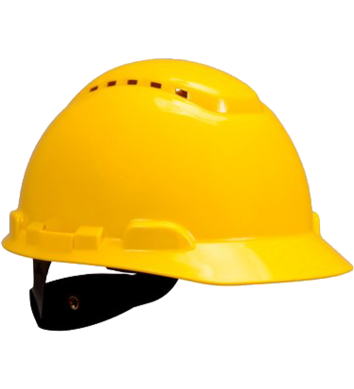 3M™ Hard Hat H-702V Vented Yellow 4-Point Ratchet Suspension