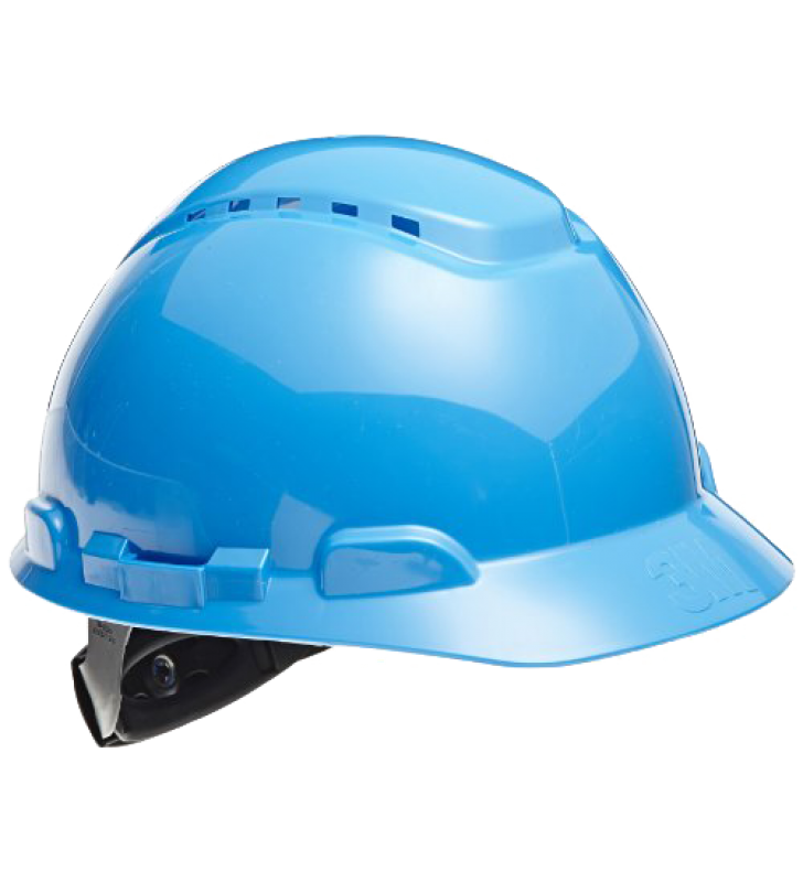 3M™ Hard Hat H-703V Vented Blue 4-Point Ratchet Suspension