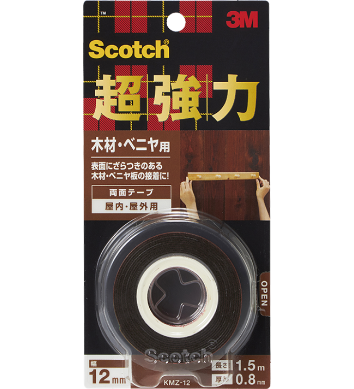 3M Scotch® Strong Double Coated Tape - Wood KMZ-12