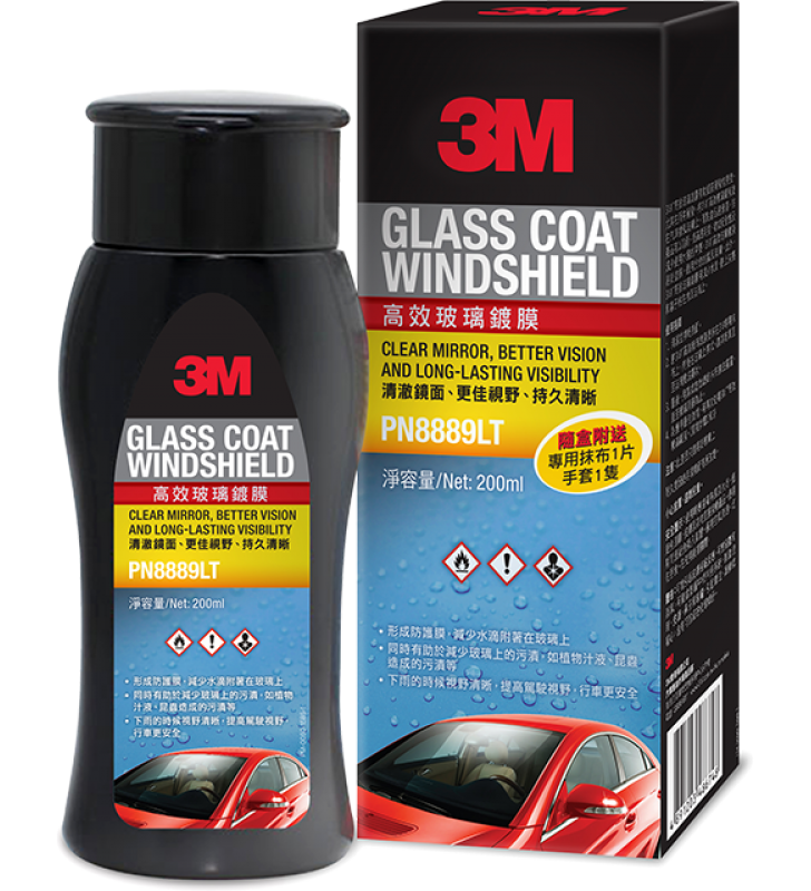 3M PN8889LT Glass Coat Windshield - 200 ml
