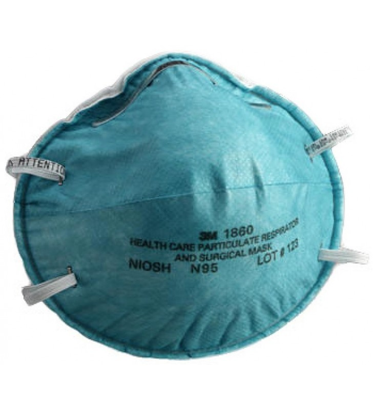 3M 1860 N95 Health Care Particulate Respirator and Surgical Mask (20pcs/box)