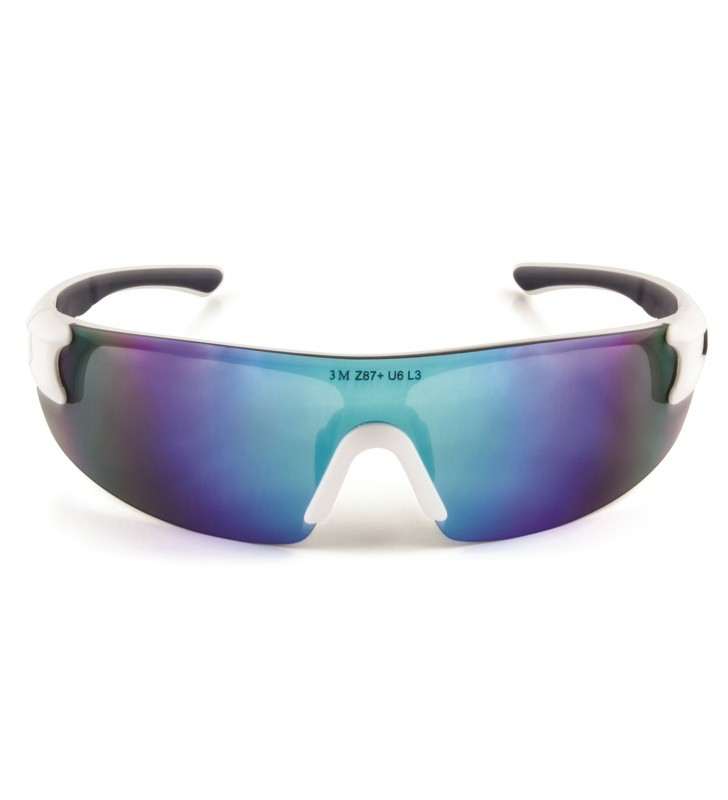 3M™ Safety Sunwear SS1728AS-W, White Frame, Blue Mirror AS Lens