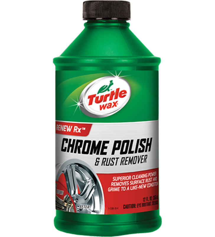 Turtle Wax Chrome Polish and Rust Remover - 12oz