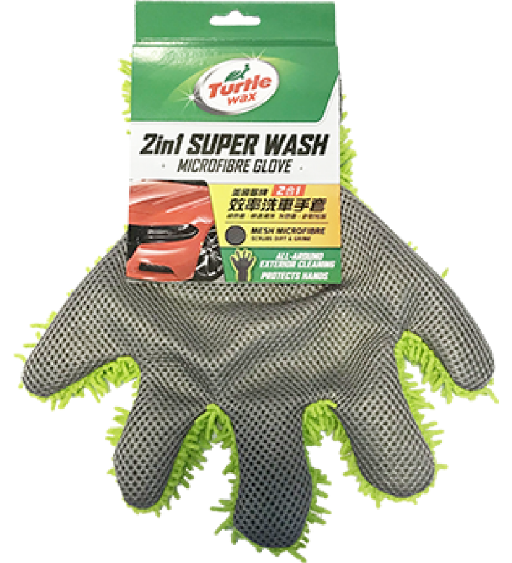 Turtle Wax 2in1 Super Wash Microfibre Glove 28 x 24 x 3 cm