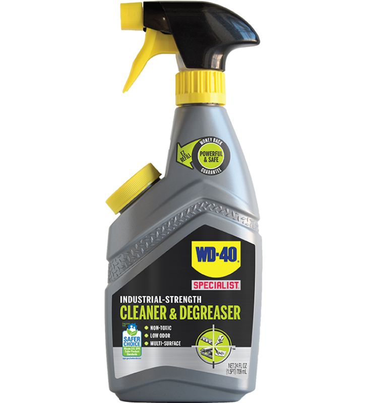 WD-40® Specialist® Industrial-Strength Cleaner & Degreaser - 24OZ (Refillable Trigger)
