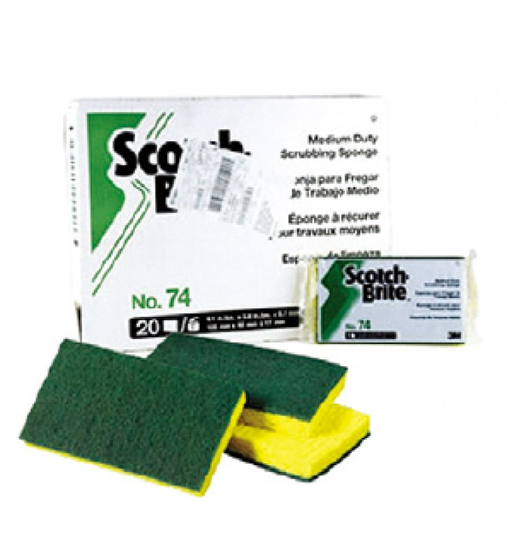 3M Scotch-Brite #74 Medium Duty Scrub Sponge (20pcs/ctn)