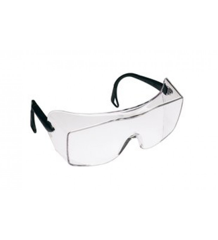 3M™ OX™ Protective Eyewear 2000, 12166 Clear Anti-Fog Lens, Black Secure Grip Temple