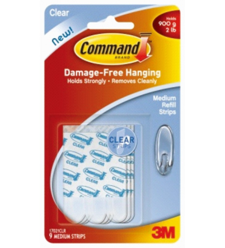 3M Command™ Clear Medium Refill Strips 17021CLR