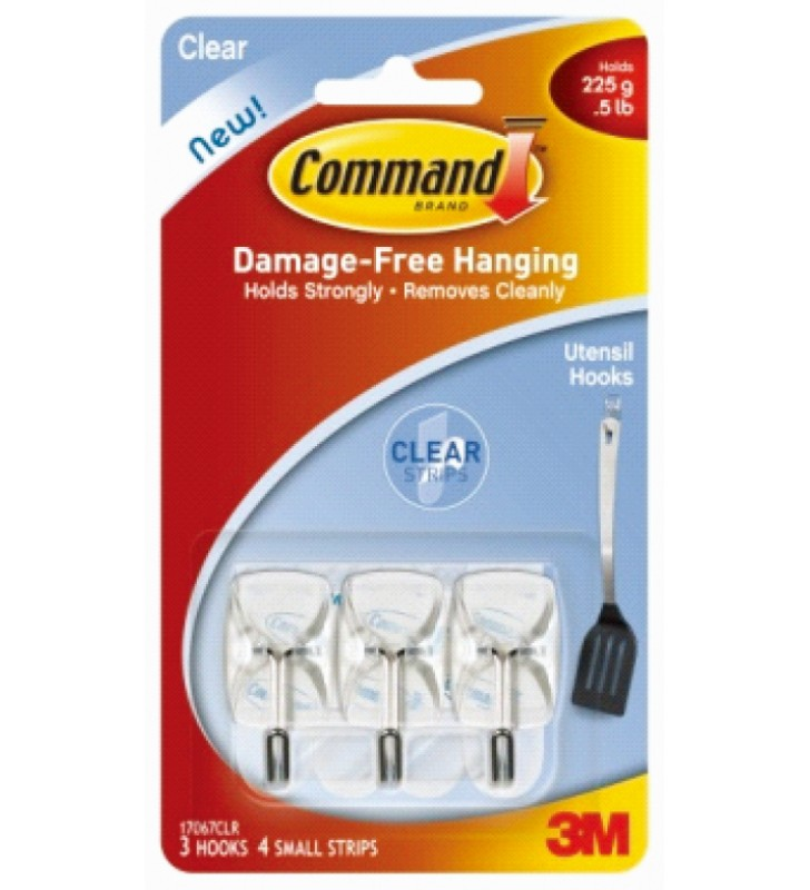 3M Command™ Clear Small Wire Hooks 17067CLR