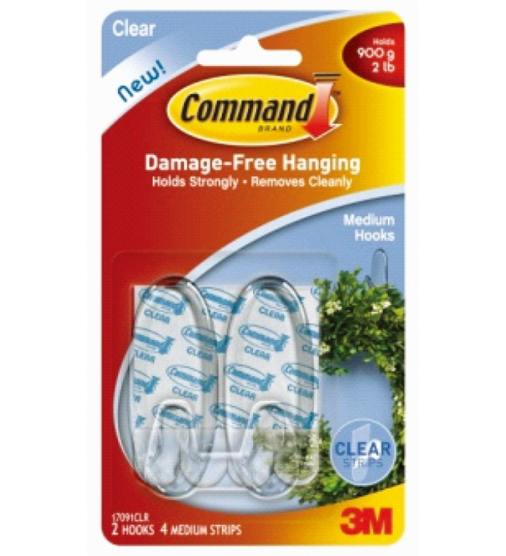3M Command™ Clear Medium Hooks 17091CLR