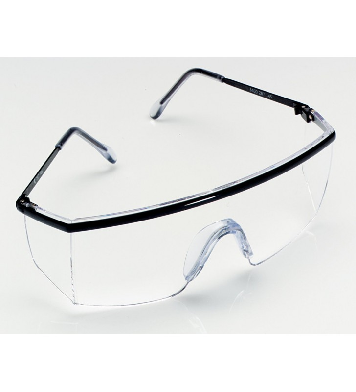 3M 1710 IN Protective Safety Spectacles - Black Frame, Clear Lens