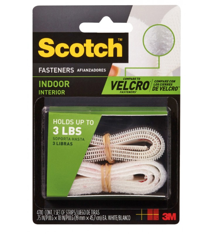 "3M Scotch® 4710 Indoor Fastener 3/4"" x 18"" White"
