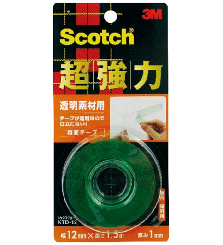 3M Scotch® Strong Double Coated Tape - Transparent KTD-12
