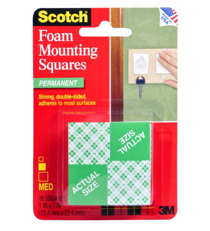 "3M Scotch® S111 Mounting Squares - 1"" x 1"""