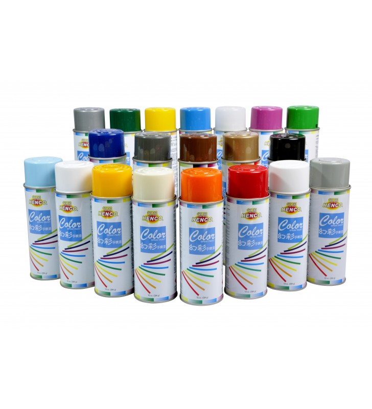 美國恒固幻彩手噴漆 (啞白色) HENCO COLOR - Spray Paint (Flat White)