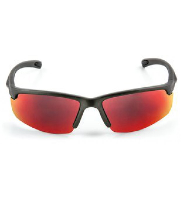 3M™ Safety Sunwear SS1329AS-G, Gray Frame, Red Mirror AS Lens