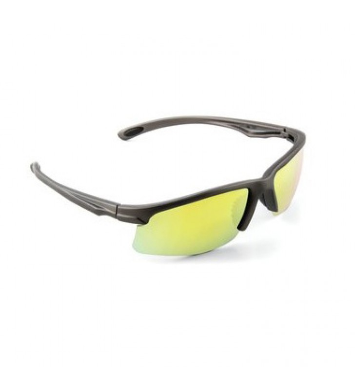 3M™ Safety Sunwear SS1330AS-G, Yellow Mirror Lens, Gray Frame, Anti-Scratch Coating