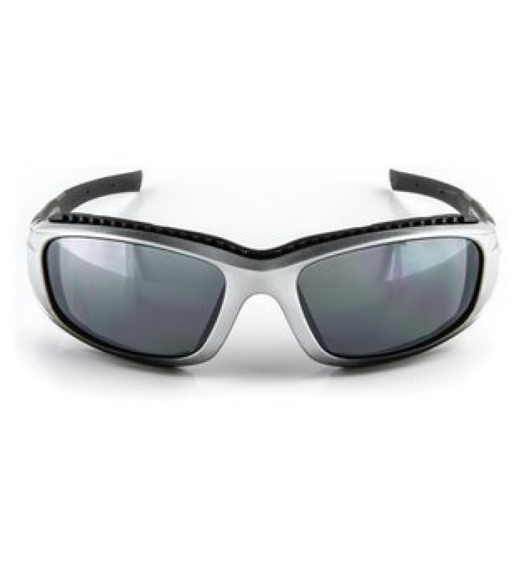 3M™ Safety Sunwear SS1514AS-S, Silver BlackFrame, Silver Mirror AS Lens