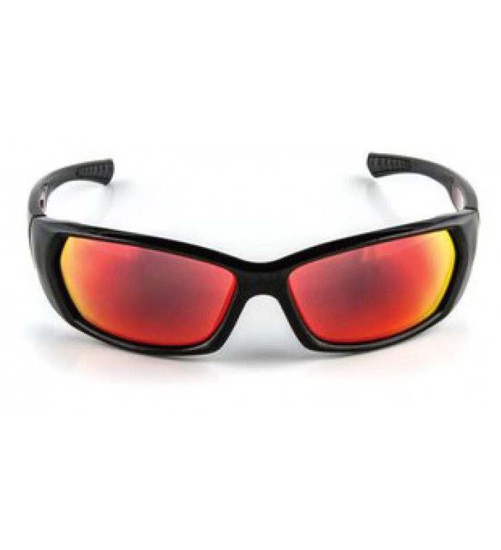 3M™ Safety Sunwear SS1629AS-B, Black Frame, Red Mirror AS Lens