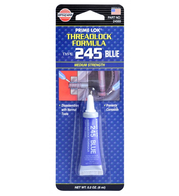 VersaChem 24569 Prime Lok Threadlock Formula 245 Medium Strength Blue 6ml