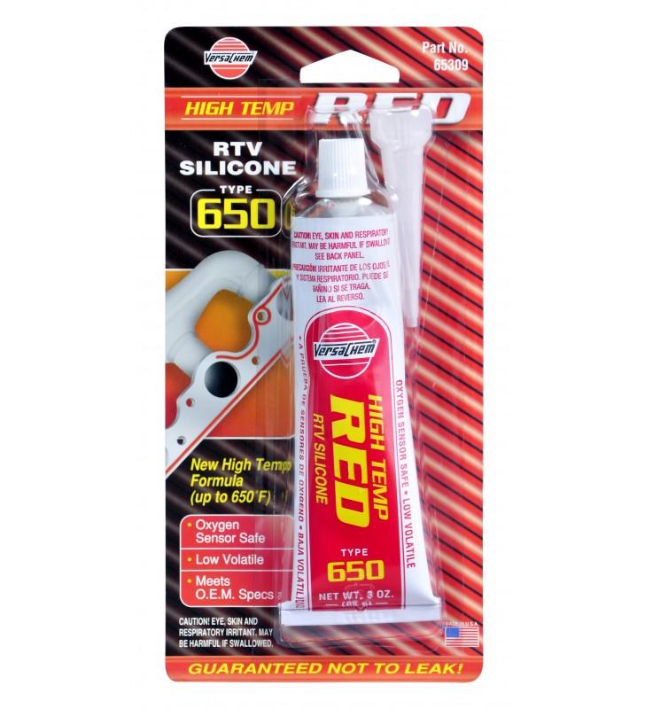 VersaChem 65309 Low Volatile High Temperature Red Silicone 3oz